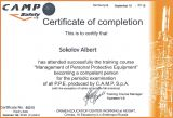 Certificate of completion CampSafety Sokolov Albert